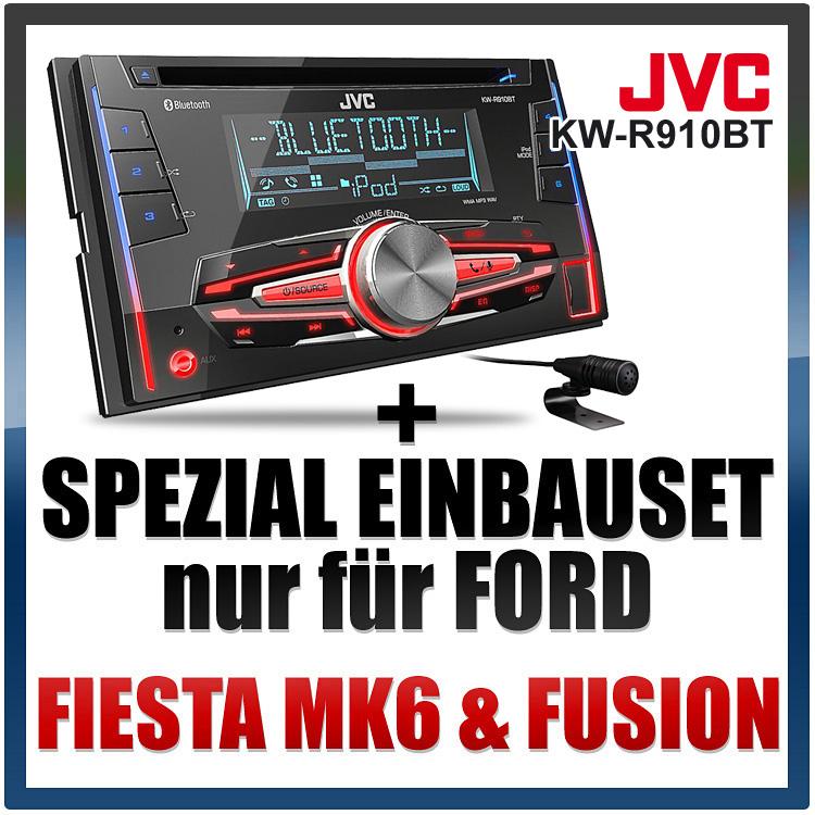 jvc 2 din bluetooth usb autoradio radio set f r ford. Black Bedroom Furniture Sets. Home Design Ideas