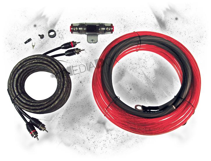 esx sx25wk 25mm auto carhifi stromkabel kabel set f r. Black Bedroom Furniture Sets. Home Design Ideas