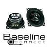 BASELINE Auto Koax Lautsprecher / Boxen BA 10 - 80 Watt (40123-2)
