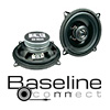 BASELINE Auto Koax Lautsprecher BA 13 - 80 Watt (40124-2)
