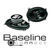 BASELINE Koax Auto Lautsprecher / Boxen BA 915 - 80 Watt (40125-2)