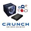 CRUNCH BASSPAKET - 2-Kanal Endstufe/Verstärker+20cm Subwoofer+Kabel-SET-700W