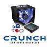 CRUNCH Basspaket 2-Kanal Endstufe/Verstärker+25cm Subwoofer+Kabel-SET - 600 Watt