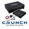 CRUNCH Basspaket 2-Kanal Endstufe/Verstärker+20cm Subwoofer+Kabel-SET - 400 Watt