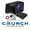 CRUNCH Basspaket 2-Kanal Endstufe/Verstärker+30cm Subwoofer+Kabel-SET - 1000 W