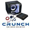 CRUNCH Basspaket 2-Kanal Endstufe/Verstärker+25cm Subwoofer+Kabel-SET - 700 W