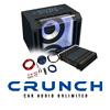 CRUNCH Basspaket 2-Kanal Endstufe/Verstärker+30cm Subwoofer+Kabel-SET - 800 W