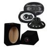 CRUNCH 3-Wege Aufbau Lautsprecher Oval 16x23cm Triax MDF Gehäuse (Paar) 250W