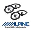 ALPINE Front/Heck Oval Auto Lautsprecher/Boxen Komplett-SET für FORD