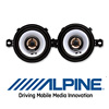 ALPINE Auto 8,7cm 2-Wege Koax Lautsprecher/Boxen - 150 Watt (SXE-0825s)