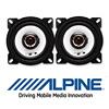 ALPINE Auto 10cm 2-Wege Koax Lautsprecher / Boxen - 60W (SXE-1025s)
