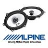 ALPINE Front/Heck Auto Oval Lautsprecher/Boxen für FORD Fiesta (MK6) - 01-09