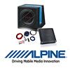 ALPINE Basspaket 2-Kanal Endstufe/Verstärker+25cm Subwoofer+Kabel-SET