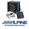 ALPINE Basspaket 2-Kanal Endstufe/Verstärker+30cm 2Ω Subwoofer+Kabel-SET