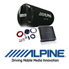 ALPINE Basspaket 2-Kanal Endstufe/Verstärker+30cm Subwoofer+Kabel-SET