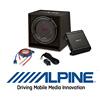 ALPINE SBG-30KIT Basspaket 2-Kanal Endstufe/Verstärker+30cm Subwoofer+Kabel-SET