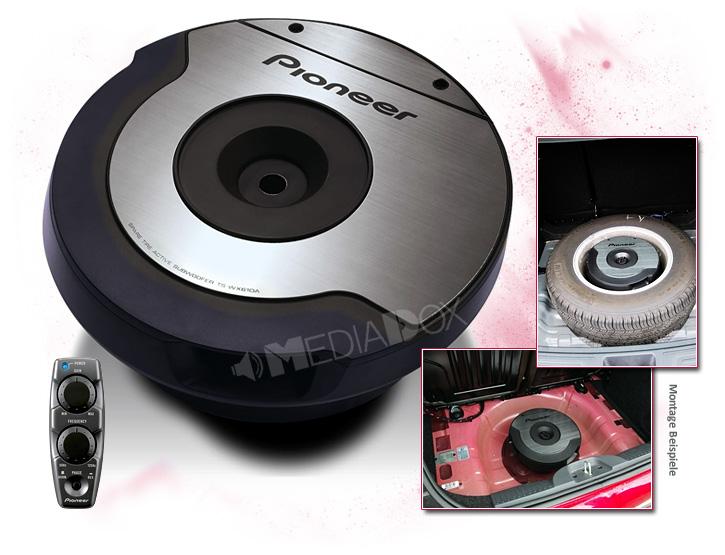 pioneer ts wx610a 2x10cm 100mm auto aktiv reserverrad subwoofer 200 watt max ebay. Black Bedroom Furniture Sets. Home Design Ideas
