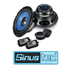 SINUSTEC Front Lautsprecher/Boxen Kompo für TOYOTA Avensis 2 (T25) - 03-08
