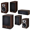 HECO 5.1 Heimkino Sourround Soundsystem Lautsprecher/Boxen/Sub - Braun (2P!)