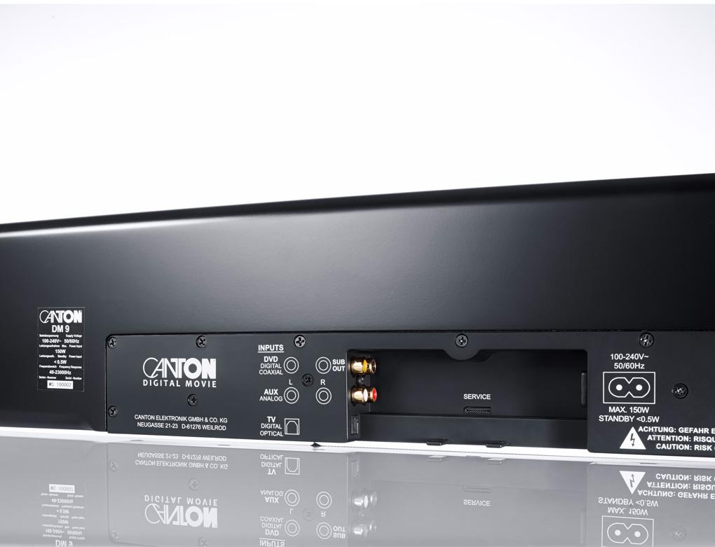 CANTON 2.1 Virtual TV Surround System/Sound Bar/Heimkino - Schwarz (DM9)
