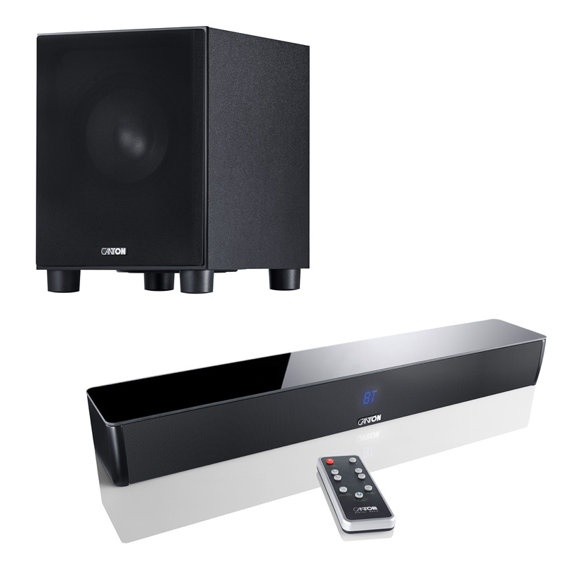 CANTON DM5 Soundbar + SUB 8.4 Subwoofer - TV Surround System/Heimkino/Sound